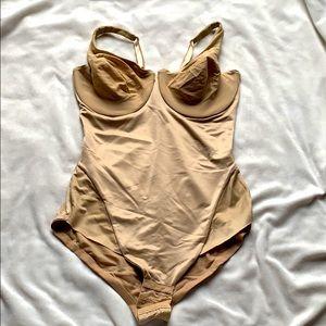 Flexees nude shapewear bodysuit 36D
